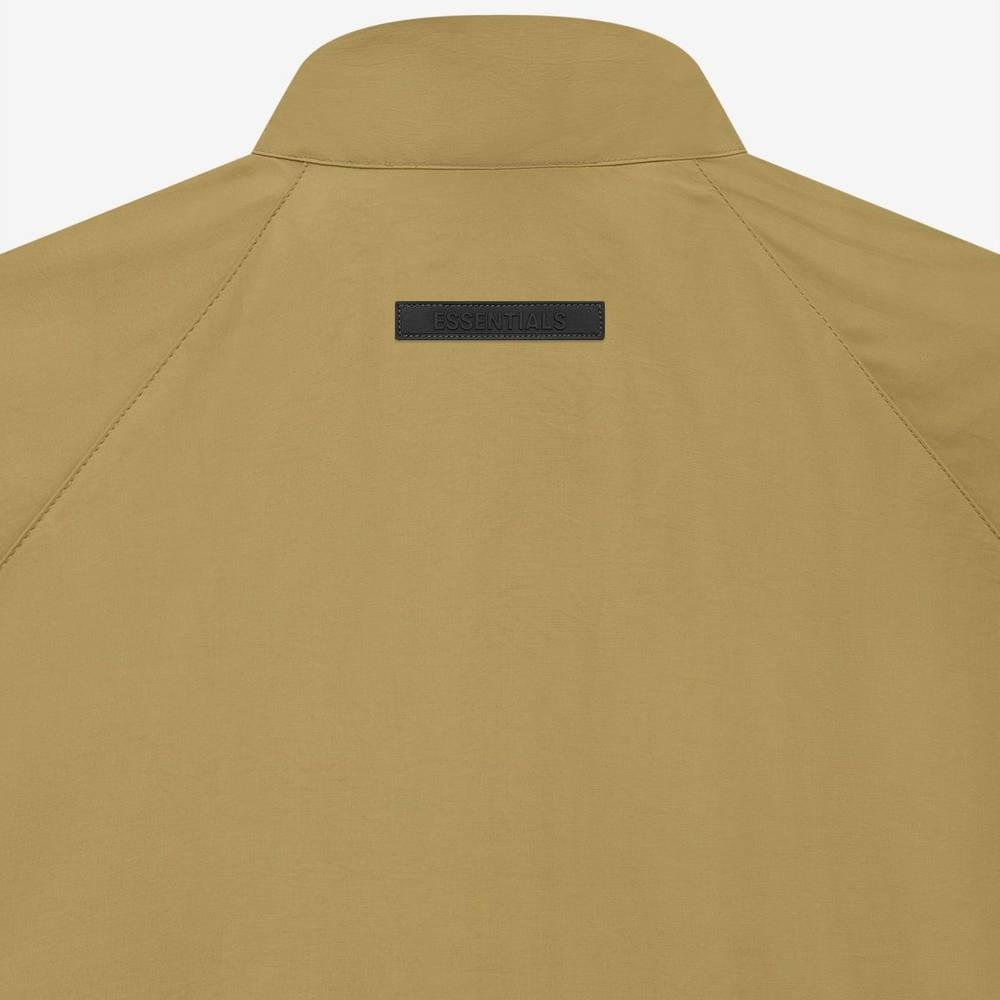 Fear of God ESSENTIALS Summer Half Zip Track Jacket Amber Detail 2