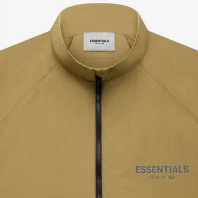 Fear of God ESSENTIALS Summer Half Zip Track Jacket Amber Detail