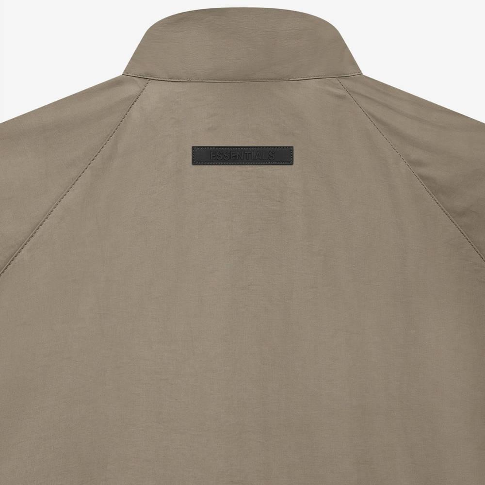 Fear of God ESSENTIALS Summer Half Zip Track Jacket Harvest Detail