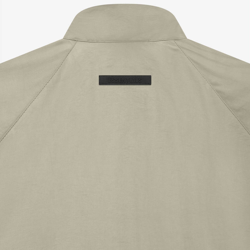 Fear of God ESSENTIALS Summer Half Zip Track Jacket Pistachio Detail 2