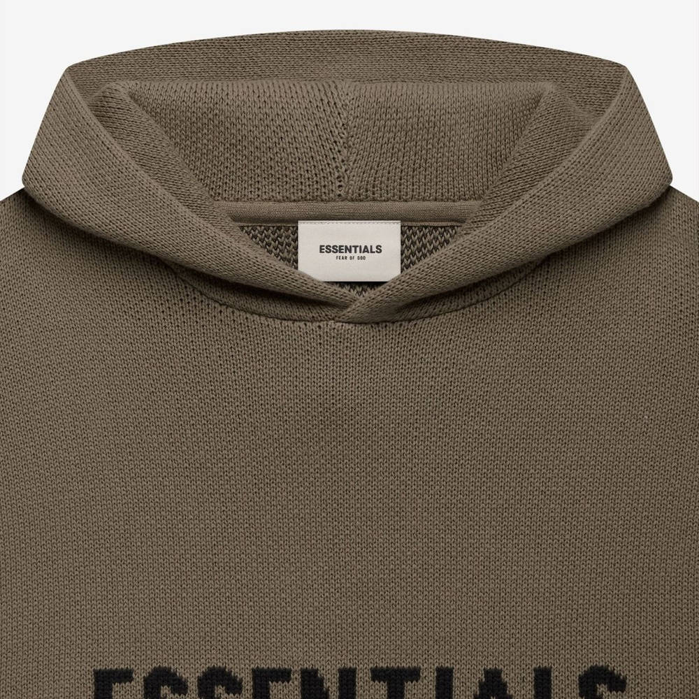 Fear of God ESSENTIALS Summer Knitted Hoodie Harvest Detail