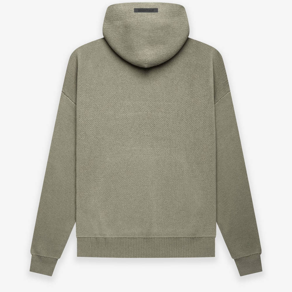 Fear of God ESSENTIALS Summer Knitted Hoodie Pistachio Back