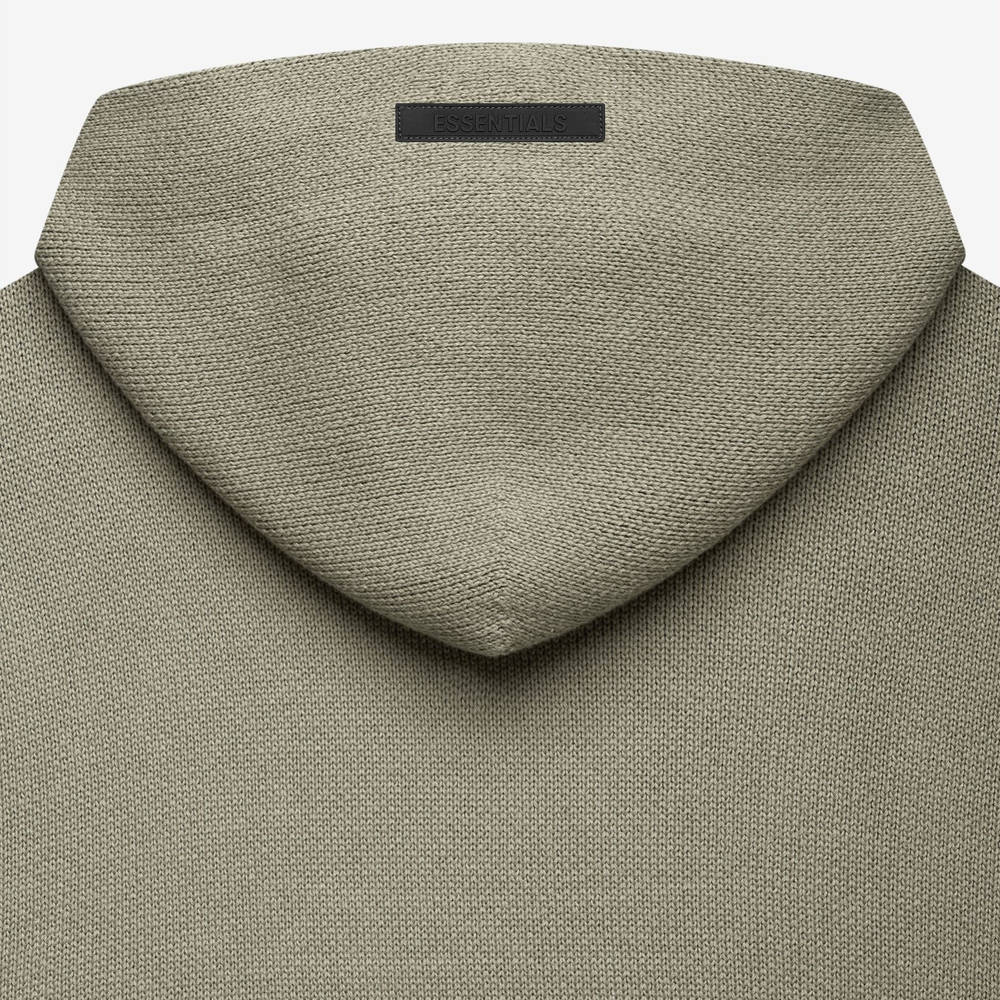 Fear of God ESSENTIALS Summer Knitted Hoodie Pistachio Detail 2
