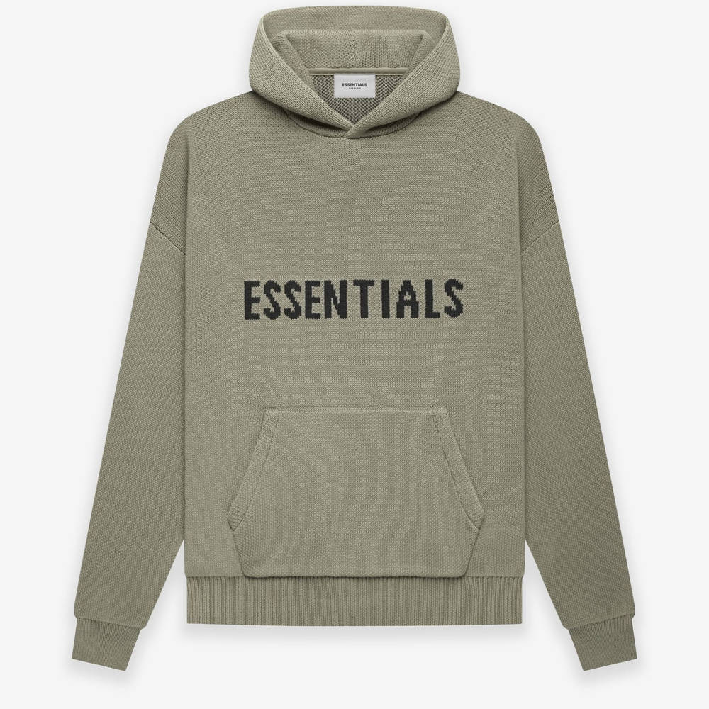 Fear of God ESSENTIALS Summer Knitted Hoodie Pistachio