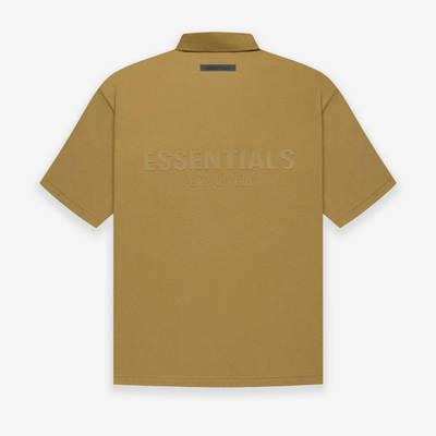Fear of God ESSENTIALS Summer Polo T-Shirt Amber Back