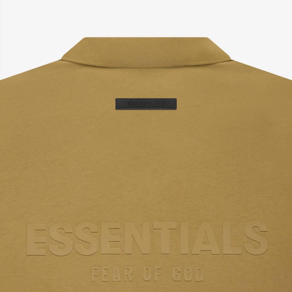 Fear of God ESSENTIALS Summer Polo T-Shirt Amber Detail 2