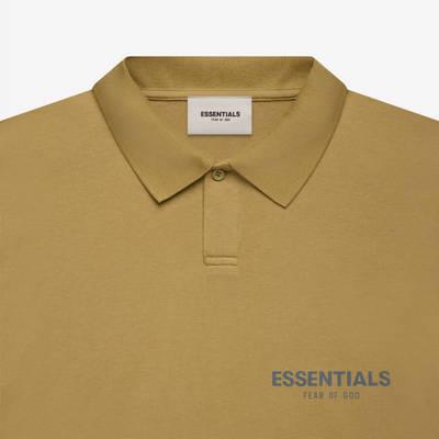 Fear of God ESSENTIALS Summer Polo T-Shirt Amber Detail