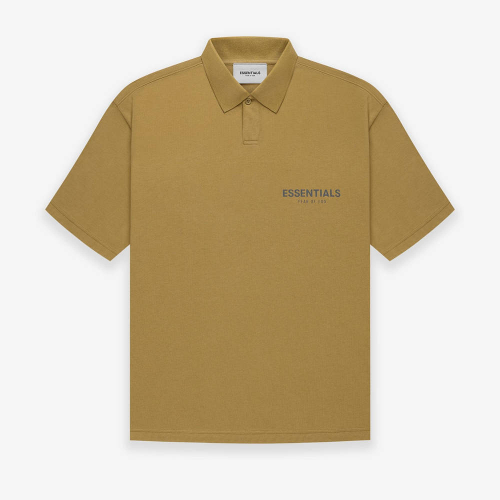Fear of God ESSENTIALS Summer Polo T-Shirt Amber