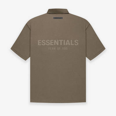 Fear of God ESSENTIALS Summer Polo T-Shirt Harvest Back