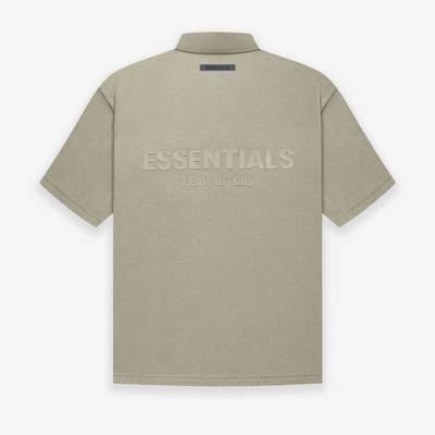 Fear of God ESSENTIALS Summer Polo T-Shirt Pistachio Back
