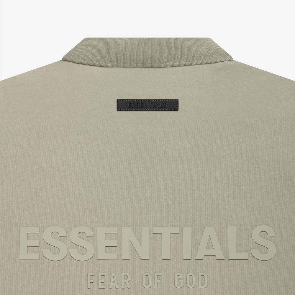Fear of God ESSENTIALS Summer Polo T-Shirt Pistachio Detail 2
