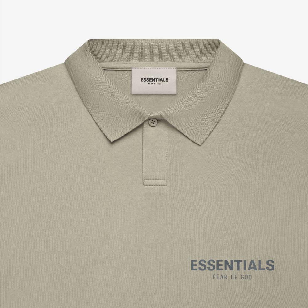 Fear of God ESSENTIALS Summer Polo T-Shirt Pistachio Detail