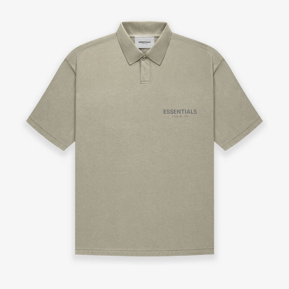 Fear of God ESSENTIALS Summer Polo T-Shirt Pistachio