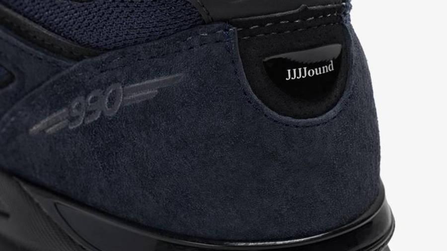 JJJJound x New Balance 990v4 Navy Detail 4