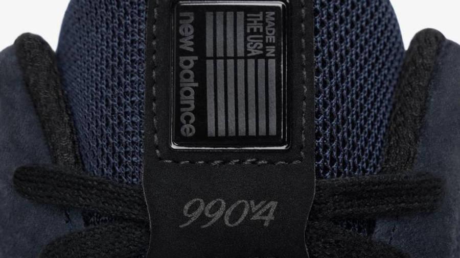 JJJJound x New Balance 990v4 Navy Detail