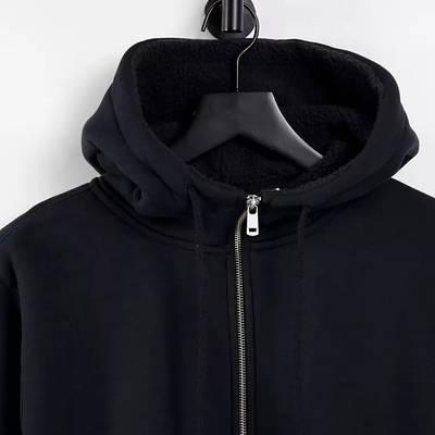 Levi's Sherpa Lined Full Zip Hoodie Black Detail 2