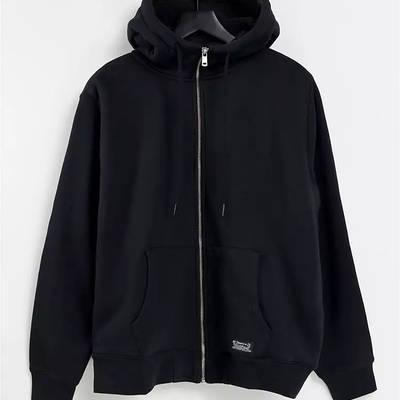 Levi's Sherpa Lined Full Zip Hoodie Black