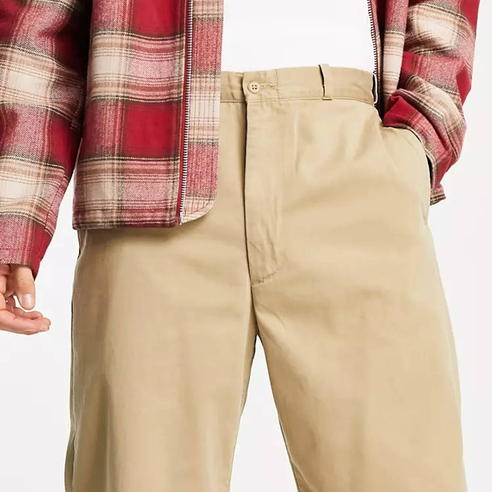 Levi's Skateboarding Loose Fit Chino Trousers Beige Detail