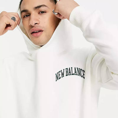 New Balance Collegiate Hoodie Off White Detail