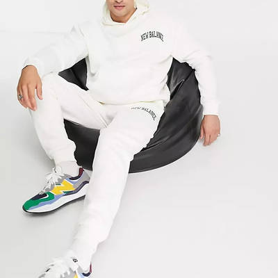 New Balance Collegiate Hoodie Off White Full