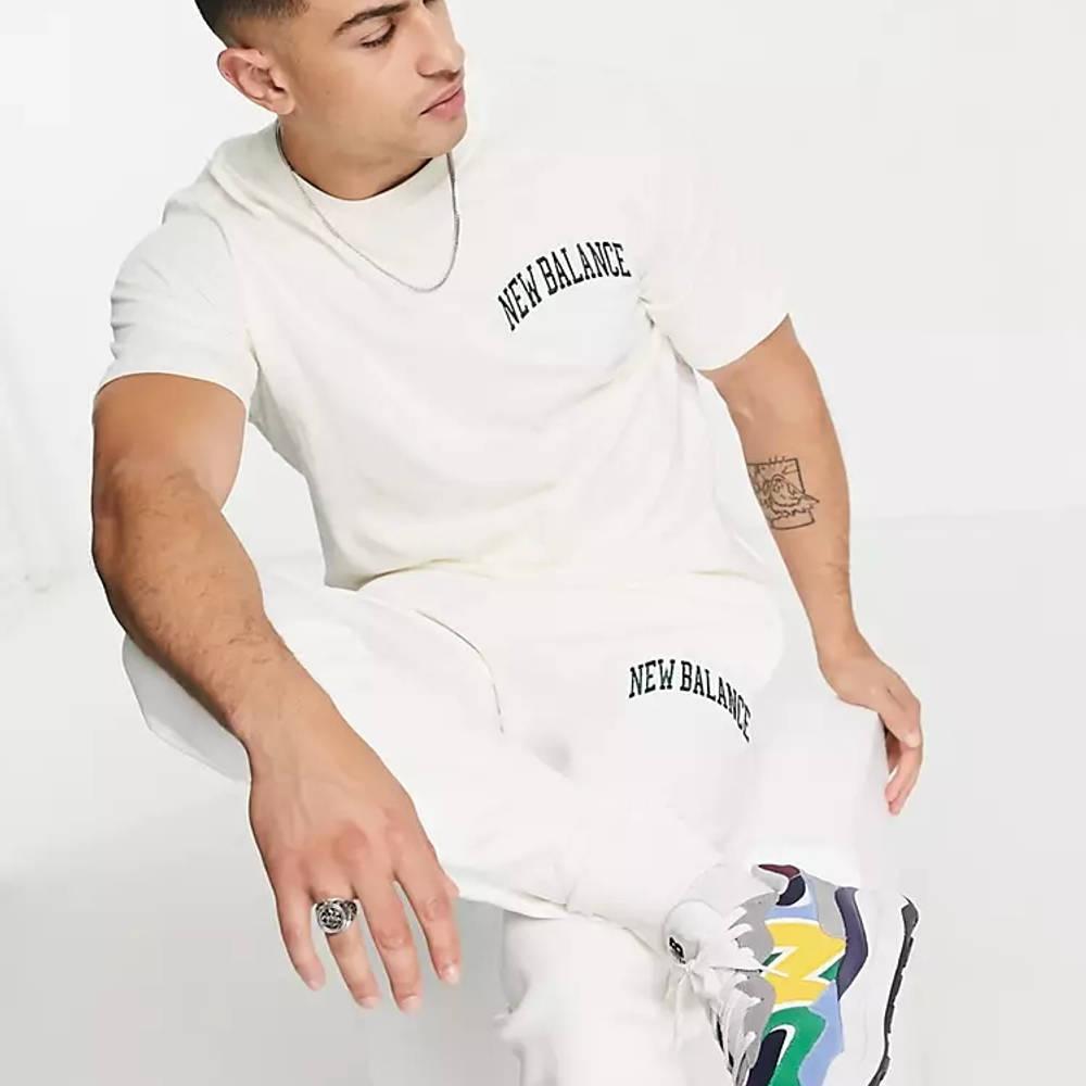 New Balance Collegiate T-Shirt Off White Full