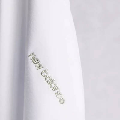 New Balance Linear Logo T-Shirt White Detail 2