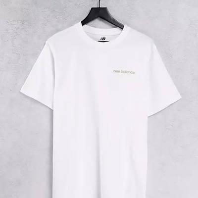 New Balance Linear Logo T-Shirt White