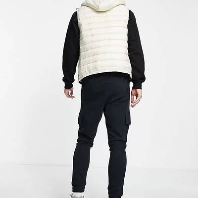New Balance Logo Cargo Trousers Black Back