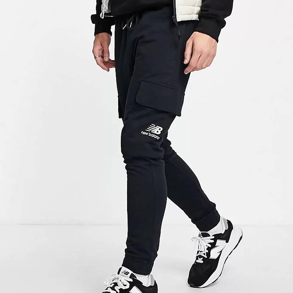 New Balance Logo Cargo Trousers Black