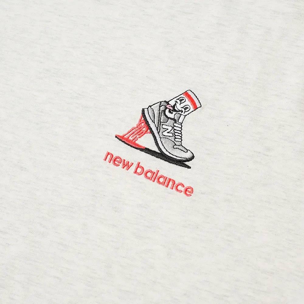 New Balance NB Athletics Minimize T-Shirt Sea Salt Heather Detail