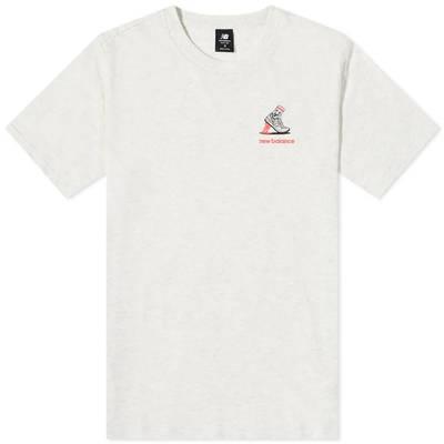 New Balance NB Athletics Minimize T-Shirt Sea Salt Heather