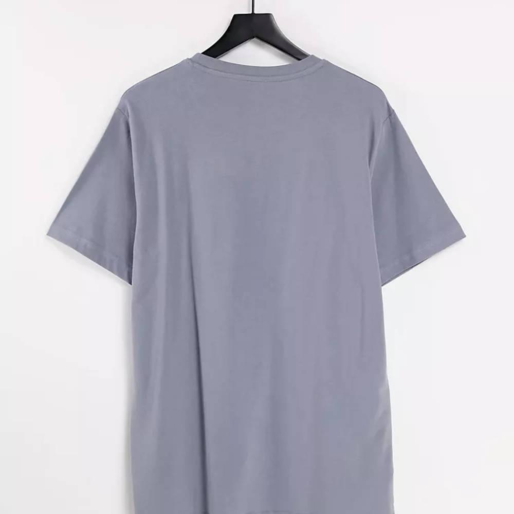 New Balance Stacked Logo T-Shirt Grey Back