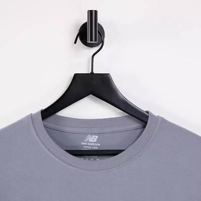 New Balance Stacked Logo T-Shirt Grey Detail 2