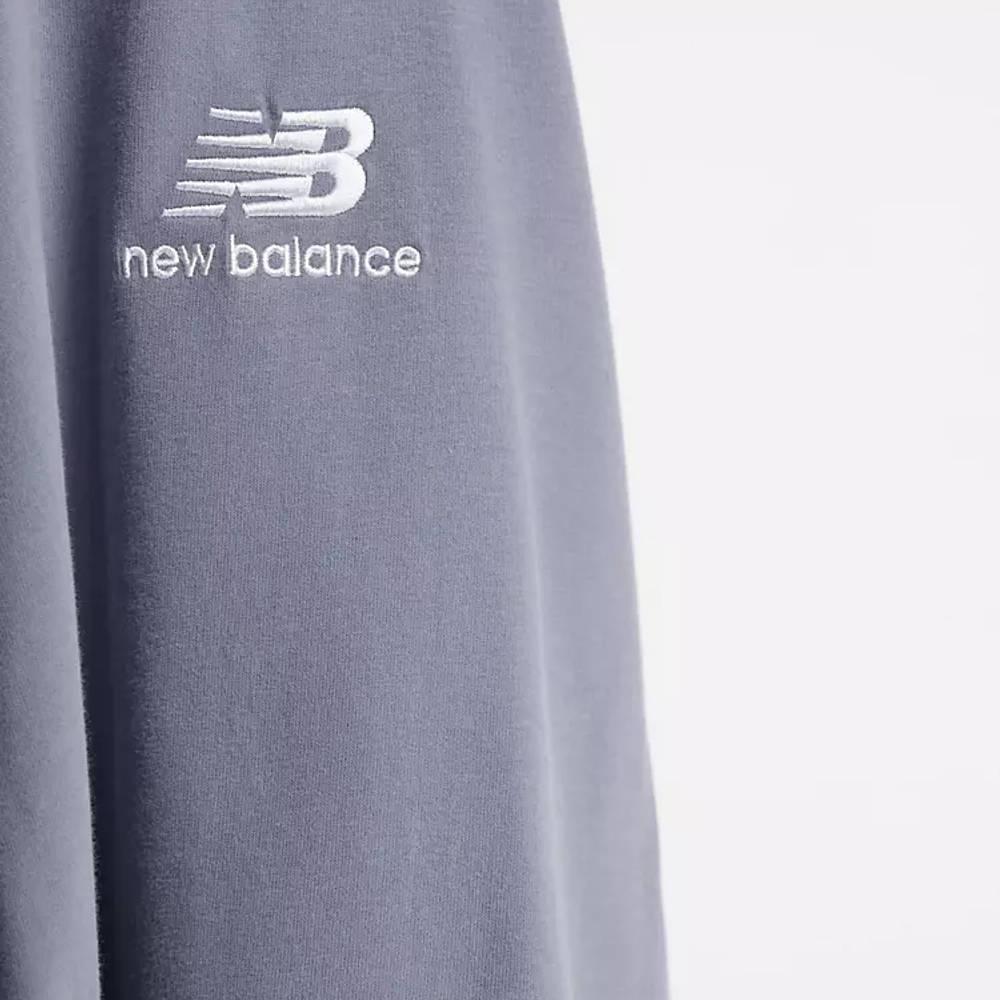 New Balance Stacked Logo T-Shirt Grey Detail