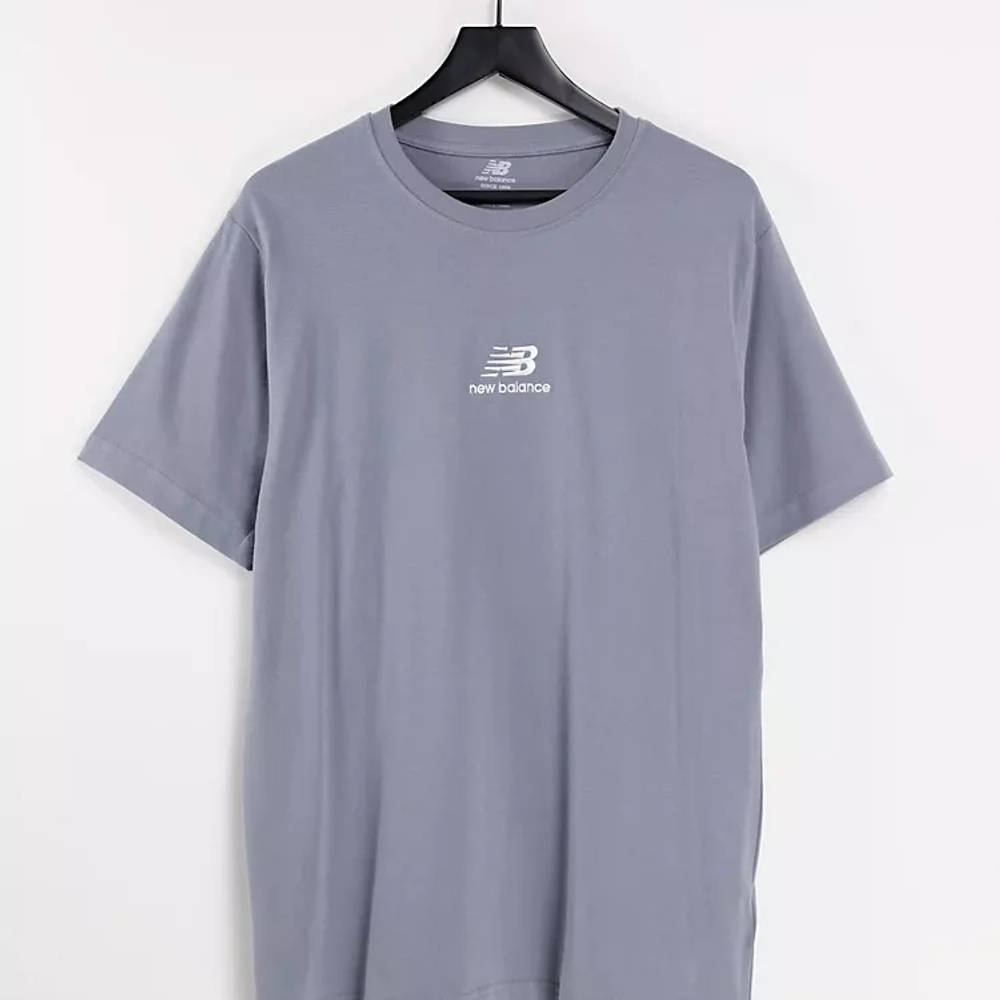 New Balance Stacked Logo T-Shirt Grey