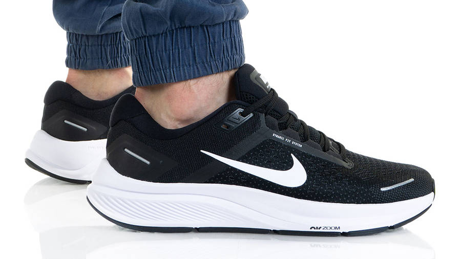 Nike Air Zoom Structure 23 Black White CZ6720-001 on foot