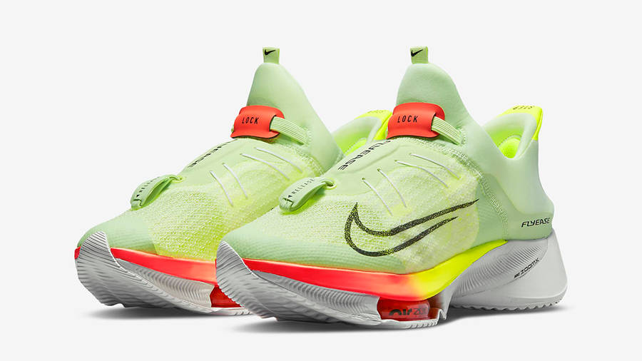 Nike Air Zoom Tempo NEXT% FlyEase Barely Volt CV1889-700 Side