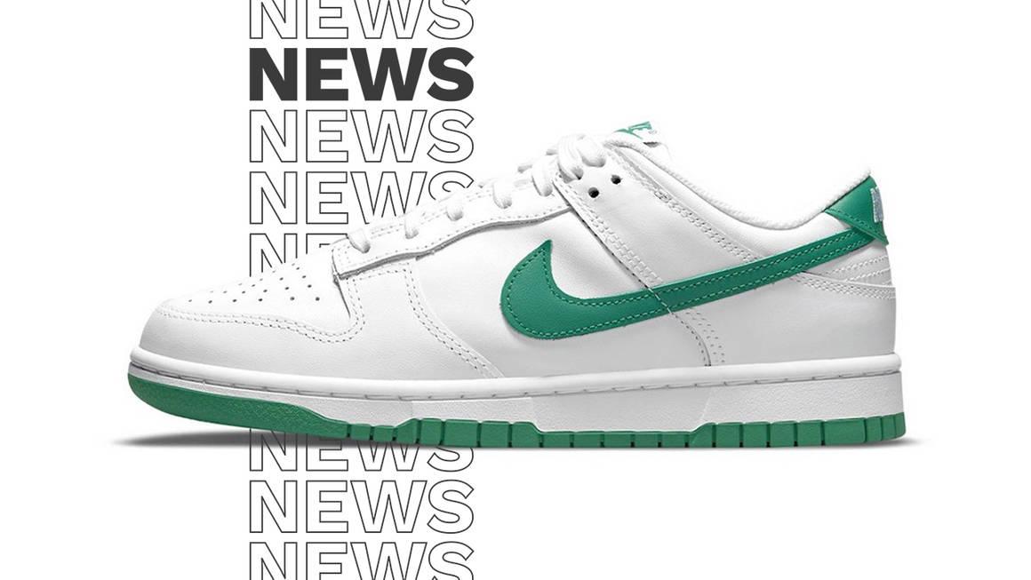 nike dunk low green white news