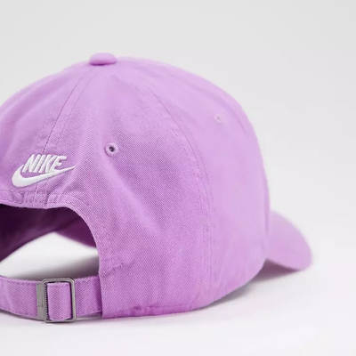 Nike Just Do It Washed Cotton Cap Lilac Detail