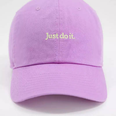 Nike Just Do It Washed Cotton Cap Lilac Front