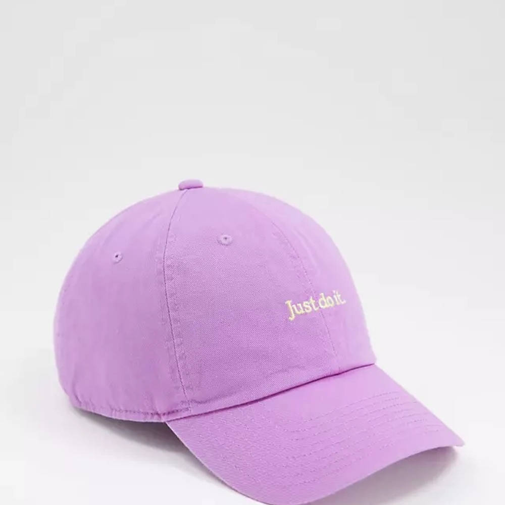 Nike Just Do It Washed Cotton Cap Lilac