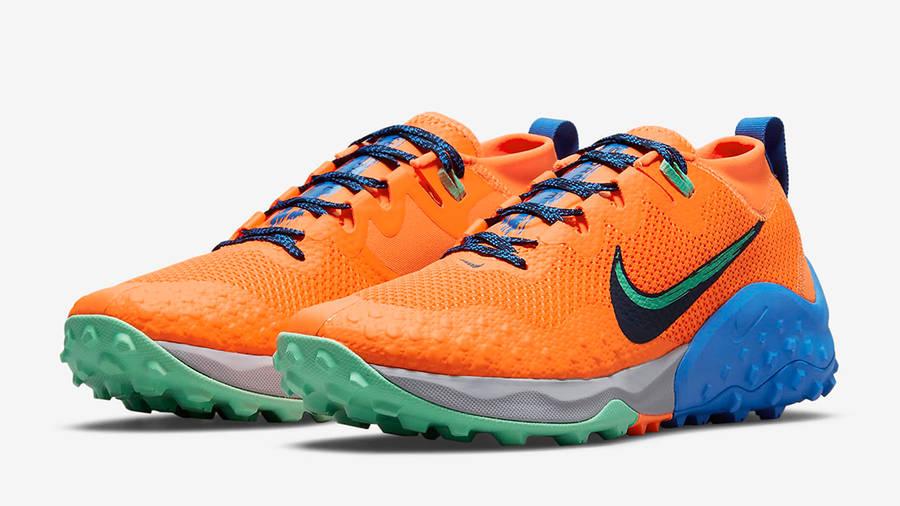 Nike Wildhorse 7 Total Orange CZ1856-800 Side