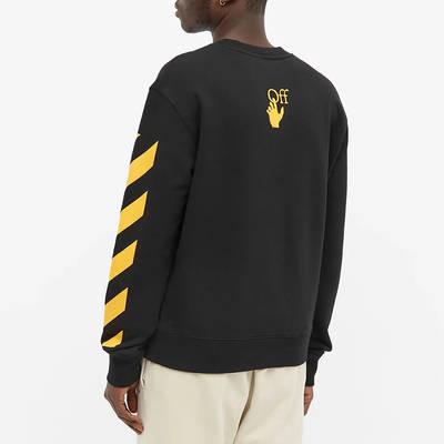 Off-White Carav Painting Slim Crew Sweatshirt Black Back