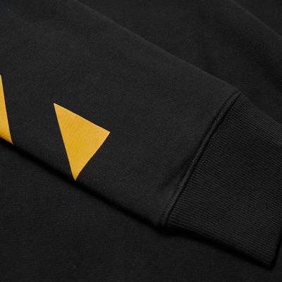 Off-White Carav Painting Slim Crew Sweatshirt Black Detail 2