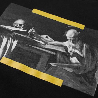Off-White Carav Painting Slim Crew Sweatshirt Black Detail 3