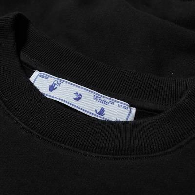 Off-White Carav Painting Slim Crew Sweatshirt Black Detail