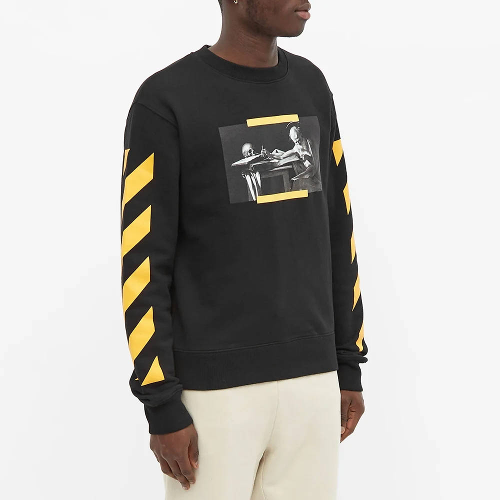 Off-White Carav Painting Slim Crew Sweatshirt Black Front