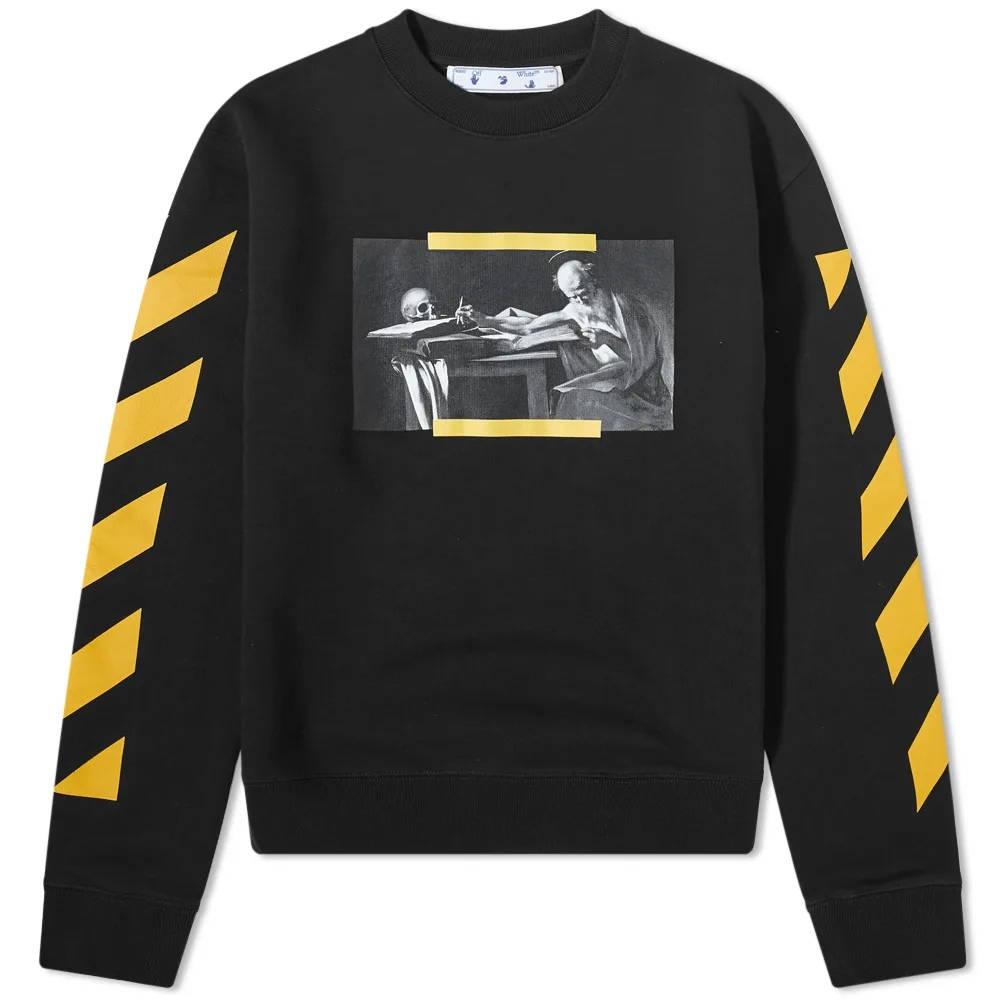 Off-White Carav Painting Slim Crew Sweatshirt Black