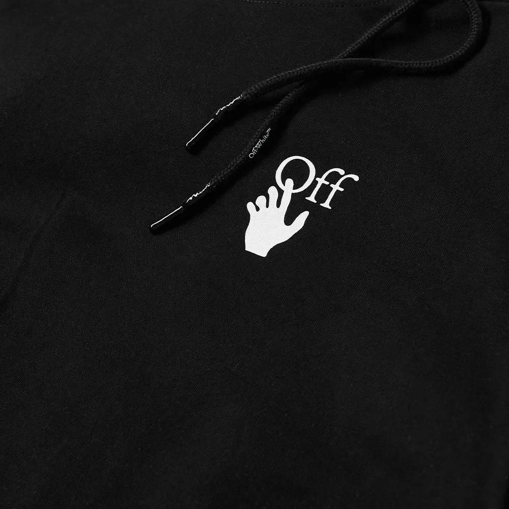 Off-White Caravaggio Arrow Double Sleeve Hoodie Black Detail 2