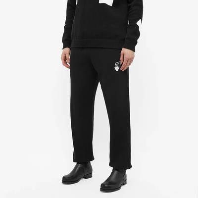Off-White Caravaggio Arrow Slim Sweat Pant Black Front